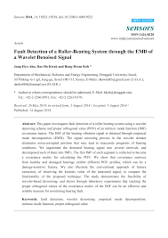 Enveloped Acceleration Severity Chart Fault Detection Of A Roller Bearing System Through The Emd