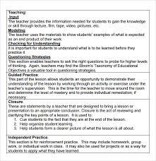Download Lesson Plan Template Hunter Model Lesson Plan Template 9 Madeline Hunter Lesson Plan