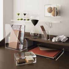 acrylic office desk. 5 Ways To Use Acrylic Decor Throughout Your House // Home Office - See Where Desk
