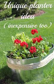 Make Your Own Unique Flower Planter | Container Idea (inexpensive Too!).    Momcrieff