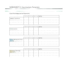 Skill Set Template Communication Matrix Template Excel