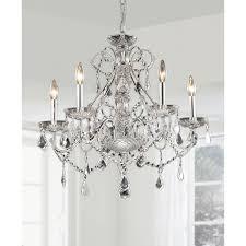 new orleans 5 light crystal chandelier