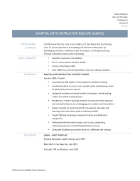 martial arts instructor resume template martial arts instructor jobs