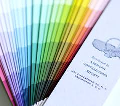 The Nickerson Fan Deck Horticultural Colour Chart Names