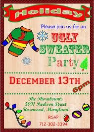 ugly sweater christmas party invitations new for  ugly sweater christmas party invitations