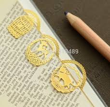 20pcs lot gold bookmarks paper clip metal page holder z stationary office supplies bookmarker marcador de livro 700 in bookmark from office