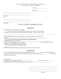 notice to owner form florida free florida eviction complaint pdf template form download
