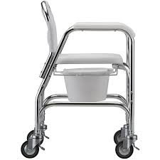 chair on wheels. commode shower chair with wheels on y