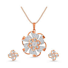 rose gold diamond pendant set hover to zoom