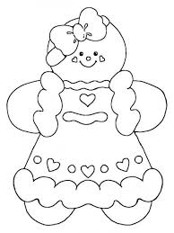 Christmas Gingerbread Man Coloring Pages Free Printable Gingerbread