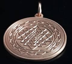 shree yantra copper disk