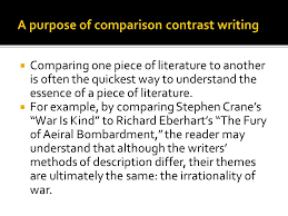 comparison and contrast writing ppt video online a purpose of comparison contrast writing