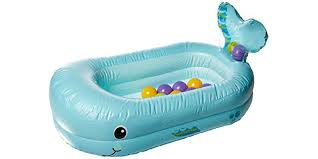 whale bubble inflatable bath tub by infantino