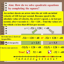 aim how do we solve quadratic equations by completing the square