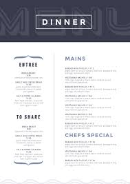 dinner template dark blue header dinner menu template easil