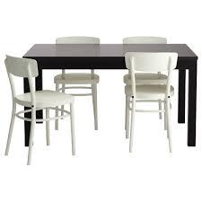 Bjursta Idolf Tisch Und 4 Stühle Schwarzbraun Weiß Ikea