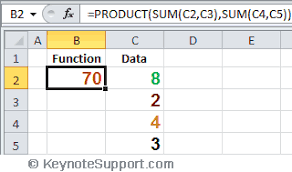 excel functions fabulous examples of excel functions the product function for