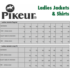 Pikeur Breeches Size Chart Www Bedowntowndaytona Com