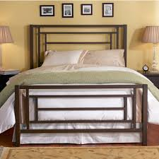 Sunset Highrise Frame Iron Bed by Wesley Allen