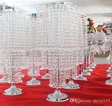 wedding decoration crystal flower vase for home decor handmade