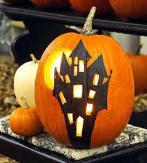illuminated haunted house