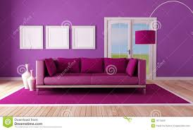 Purple Living Room Nice Day Royalty Free Stock Photography Image 26296907