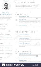 Vector Minimalist Cv Resume Template With Blue Accent And Nice