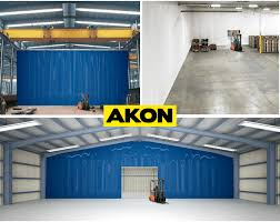 warehouse divider curtains custom