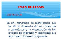 planeamiento de clases estructura de un plan de clases