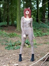 leopard halloween makeup tutorial with h m