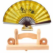 Japanese Fan Display Stand 100cm Chinese Japanese Foldable Fan Display Holder Base Stand Knot 10