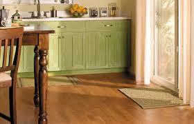 cherry laminate wood flooring in kitchen