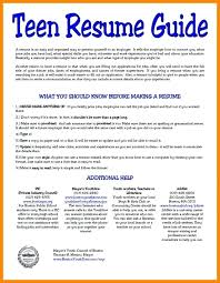 Resume For Teens Enchanting Resume Templates For Teens Example Of A Resume For A Teenager