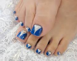 Blue And Silver Toe Nail Designs Toe Nail Art Design Blue And Silver Face Makeup Ideas