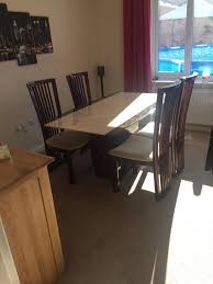 scs marble dining table 4 chairs in brockworth with regard to measurements 768 x 1024