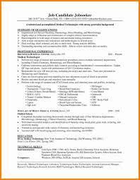 Lab Technician Resume Best Of Simple Medical Laboratory Technician
