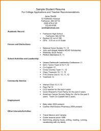 Sample College Freshman Resume Cv Template University Student Resume Curriculum Vitae Format 91