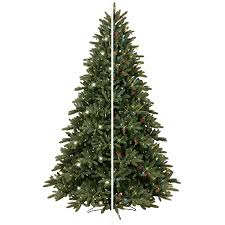 ge 7 5 ft pre lit frasier fir artificial christmas tree with within lowes