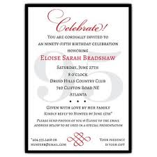 Classic 95th Birthday Celebrate Party Invitations Paperstyle