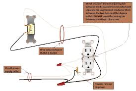 wiring diagram for half hot outlet wiring image power outlet half switched switch outlet electrical wiring done right on wiring diagram for half hot