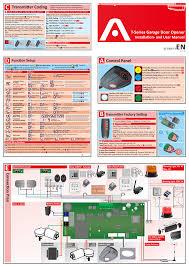 t series garage door opener control