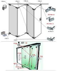 stainless steel glass folding door
