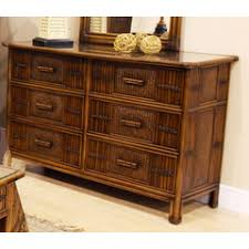 polynesian furniture. 6 Drawer Dresser, Hospitality Rattan, Polynesian Collection Furniture