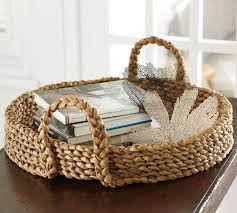 large round wicker serving tray designs