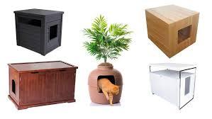 furniture to hide litter box. Cat Litter Box Furniture, Hidden Box, Enclosure Furniture To Hide O