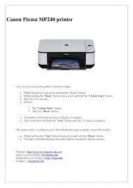 Canon Printer Black Ink Light Blinking Canon Pixma Mp240 Printer Printer Canon Reset Button