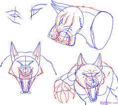 werewolf face drawing. Delighful Drawing How To Draw A Werewolf Face Head Eyes Step 4 With Werewolf Face Drawing H