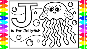 Dora explorer and friends coloring pages for kids | learn color dora explorer video for children. Abc Alphabet Coloring Pages For Kids J Is For Jellyfish Fun Coloring Pages Sea Animals Coloring Youtube