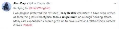 .) praise for tracy beaker: Tracy Beaker Sequel Slammed For Her Return As A Poor Single Mother Daily Mail Online