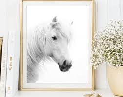 white horses wall art